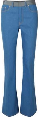 ADEAM - Grosgrain-trimmed Mid-rise Flared Jeans - Light denim