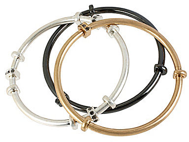 Kenneth Cole New York Tri-Tone Bangle Bracelet Set