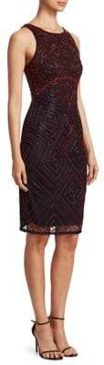 Theia Beaded Sheath Dress