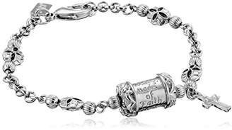 Symbols of Faith Inspirations Mary Pray for Us Cross Link Charm Bracelet