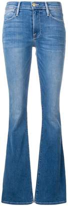 Frame flared high-waisted jeans