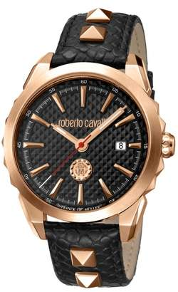 Roberto Cavalli BY FRANCK MULLER Costellato Leather Strap Watch