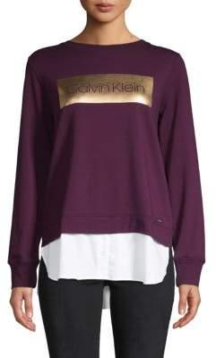 Calvin Klein Shine Box Logo Sweatshirt