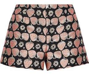 RED Valentino Metallic Jacquard Shorts
