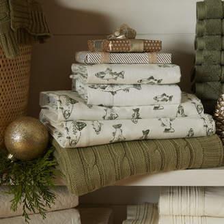 Eddie Bauer School of Fish 100% Cotton Flannel Sheet Set