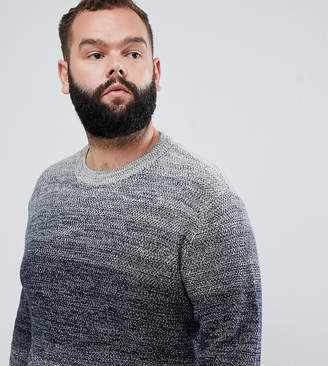 Jack and Jones Originals Plus Size knitted sweater with mixed yarn fade