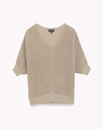 Theory (セオリー) - 【Theory】Paper Linen V Neck Puff Sleeve Knit