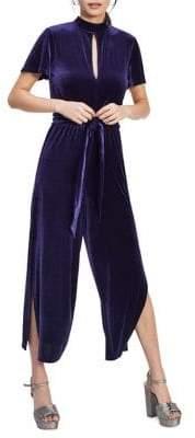 Miss Selfridge Velvet Keyhole Side Slit Jumpsuit