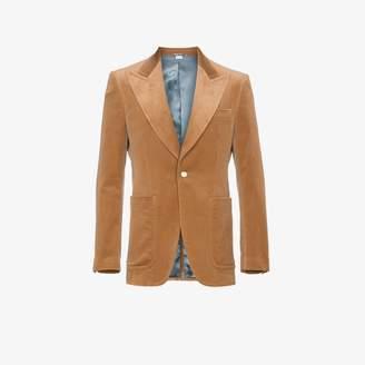 Gucci Camel velvet blazer