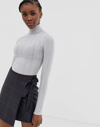 Asos Design DESIGN stitch detail roll neck jumper