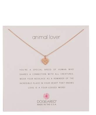 Dogeared Animal Lover Best Friends Heart Pendant Necklace