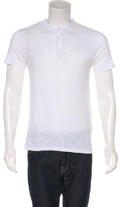 Vince Short Sleeve Henley T-Shirt
