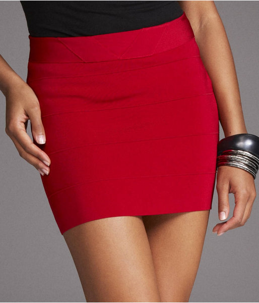 Banded Mini Skirt