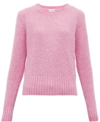 Moncler Logo Patch Sweater - Womens - Pink