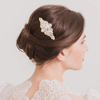 Britten Weddings Crystal And Pearl Wedding Hair Comb