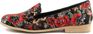 I Love Billy Quem Black&red flora Shoes Womens Shoes Casual Flat Shoes