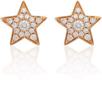 Anita Ko 18K Gold And Diamond Star Studs
