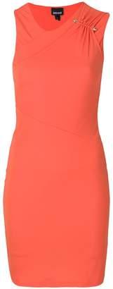 Just Cavalli ruched shoulder dress