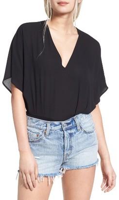 Women's Lush Blouson Bodysuit $45 thestylecure.com