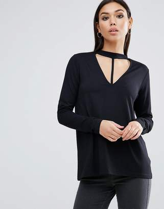 Asos Top with Choker Cage Detail