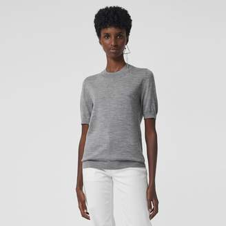 Burberry Crew Neck Merino Wool Sweater, Grey