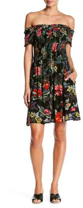RD Style Off-the-Shoulder Floral Print Dress
