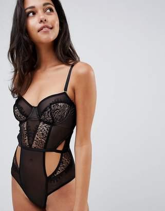 Asos DESIGN Blake sheer lace underwire bodysuit