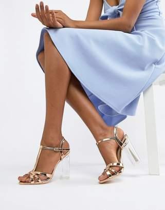 Glamorous Metallic Heeled Sandal