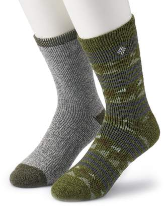 Columbia Men's 2-pack Fashion Wool-Blend Crew Socks