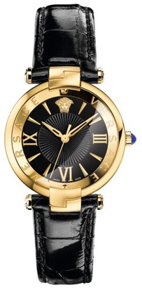 Women's Versace Revive Leather Strap Watch, 35Mm $1,395 thestylecure.com