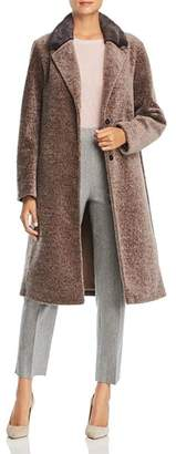 Maximilian Furs Mink Fur Collar Lamb Shearling Coat - 100% Exclusive