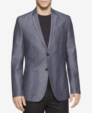 Calvin Klein Men's Linen Herringbone Hopsack Sport Coat