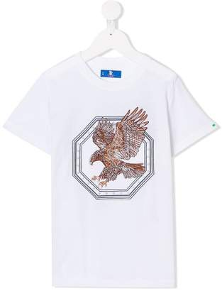 Stefano Ricci Kids embroidered eagle T-shirt