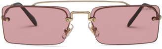 Miu Miu Skinny Square Sunglasses