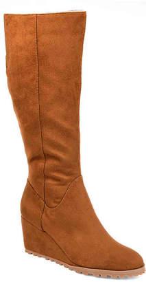 Journee Collection Parker Wide Calf Wedge Boot - Women's