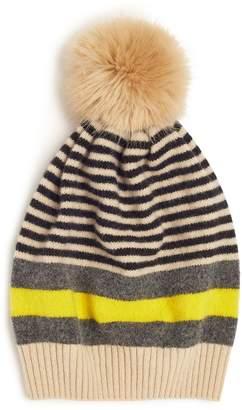 Jigsaw Kilda Stripe Pom Hat