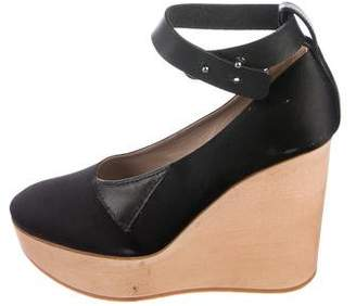 Chloé Satin Platform Wedges