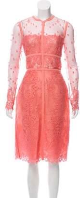 Elie Saab Mesh Lace Dress w/ Tags