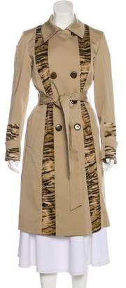 Sonia Rykiel Printed Long Trench Coat w/ Tags
