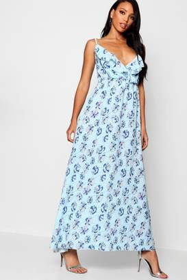 boohoo Print Maxi Dress