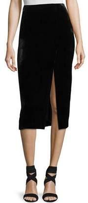 Jason Wu GREY X Diane Kruger Velvet Midi Pencil Skirt
