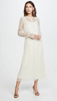 Endless Rose Meshed Polka Dot Midi Dress