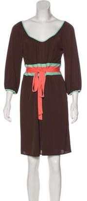 Milly Scoop Neck Knee-Length Dress