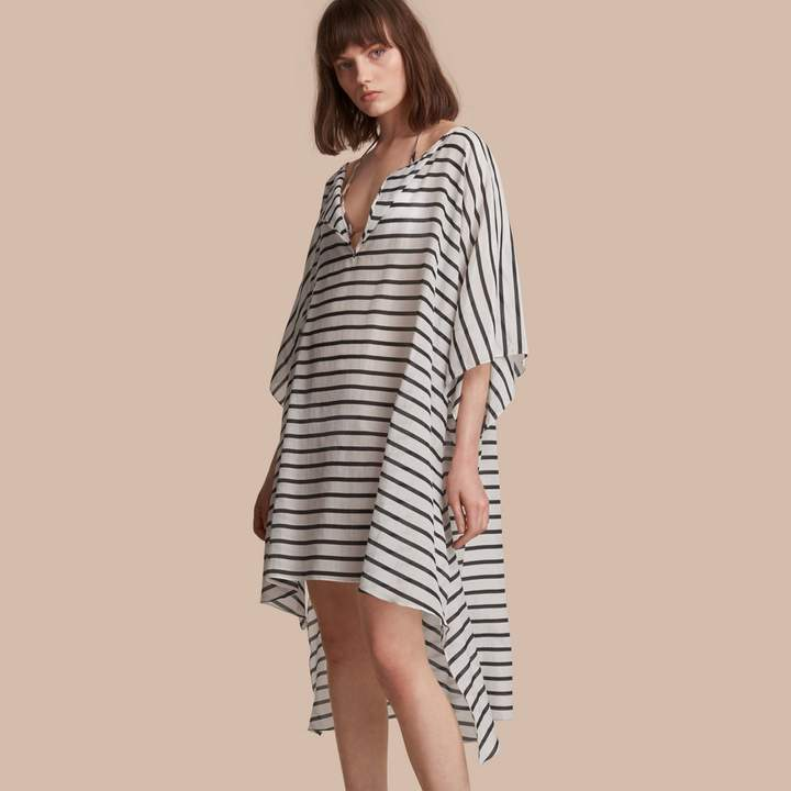 Burberry Striped Cotton Silk Kaftan
