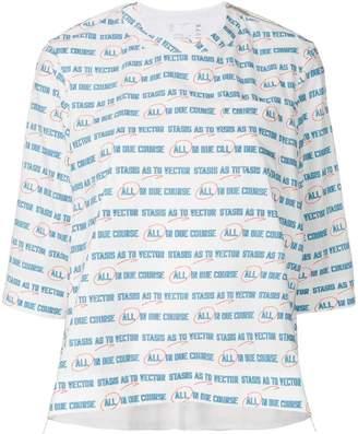Sacai Vector print oversized T-shirt