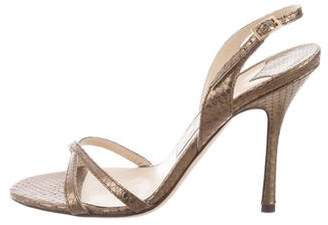 Jimmy Choo Python India Sandals