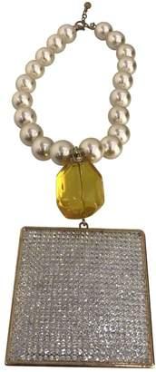Valentino Vintage Beige Pearls Necklace