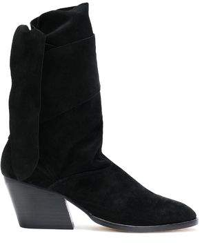 Sigerson Morrison Lori Knotted Suede Ankle Boots
