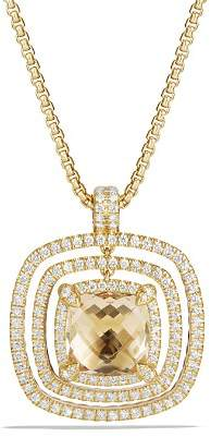 David Yurman Châtelaine Pavé Bezel Enhancer with Champagne Citrine and Diamonds in 18K Gold
