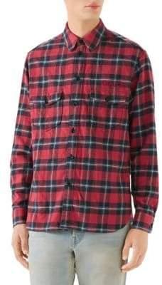 Gucci Paramount Logo Check Shirt